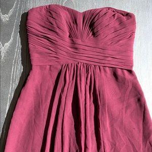 David Bridal Wine Maxi Dress